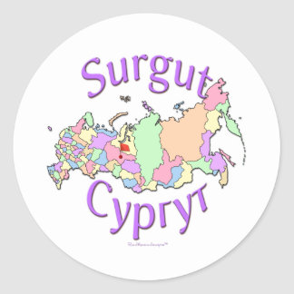 Surgut Russia Classic Round Sticker
