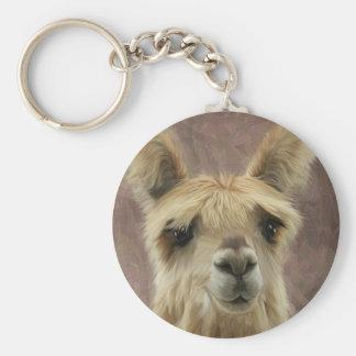 Suri Alpaca Basic Round Button Keychain