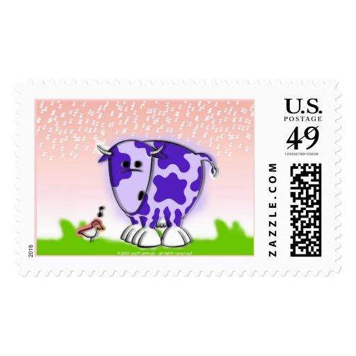 Suri the cow stamp