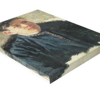 Surikov-Retrato de Vasily de Leonid joven Chernysh Impresion De Lienzo