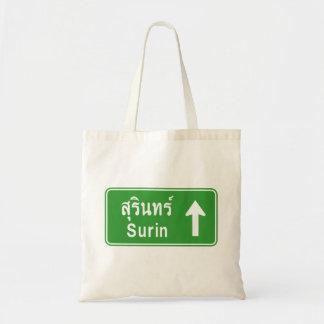 Surin Ahead ⚠ Thai Highway Traffic Sign ⚠ Tote Bag
