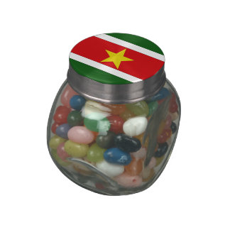 Suriname Jelly Belly Candy Jar