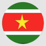 Suriname Classic Round Sticker