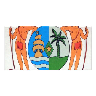 Suriname coat of arms card