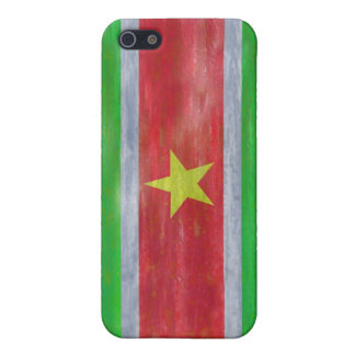 Suriname distressed flag iPhone SE/5/5s case