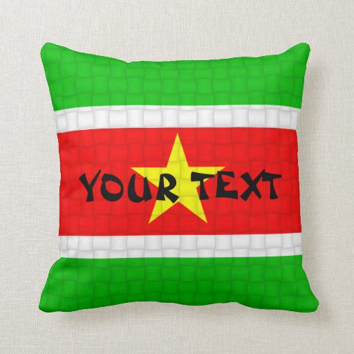 Suriname Flag: ADD TEXT Pillow