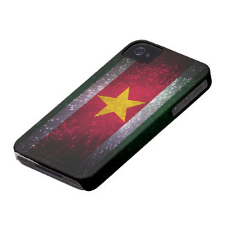Suriname Flag Firework iPhone 4 Case-Mate Case