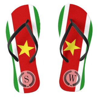 Suriname Flag Flip Flops