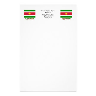 Suriname Flag with name in Russian Stationery