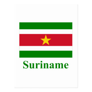 Suriname Flag with Name Postcards