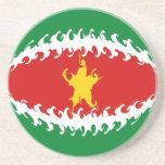 Suriname Gnarly Flag Coaster