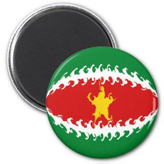 Suriname Gnarly Flag Magnet
