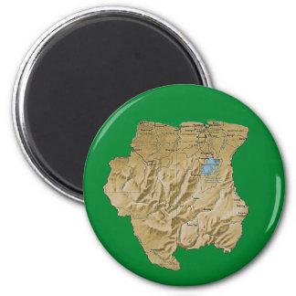 Suriname Map Magnet
