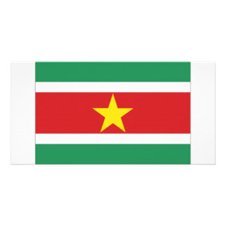 Suriname National Flag Photo Card Template