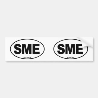 Suriname SME Oval ID Identification Code Initials Bumper Sticker