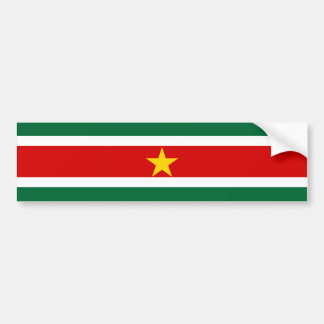 suriname surinam country flag nation symbol bumper sticker