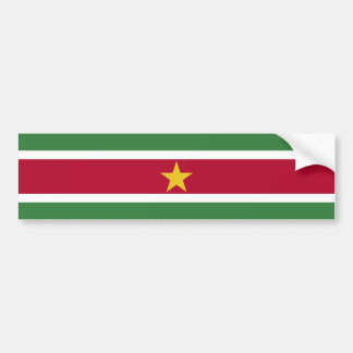 Suriname/Surinamer Flag Bumper Sticker