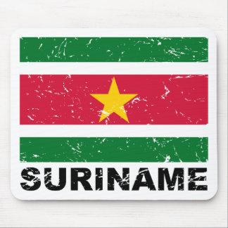 Suriname Vintage Flag Mouse Pad