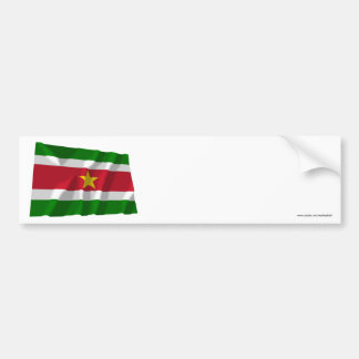 Suriname Waving Flag Bumper Sticker