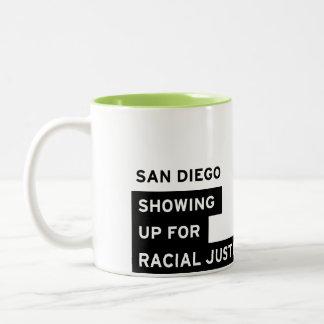 SURJ San Diego Mug - Lime Green Two-Tone