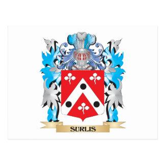 Surlis Coat of Arms - Family Crest Postcard