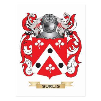 Surlis Coat of Arms (Family Crest) Postcard