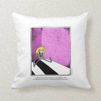 SURLY cartoon by Ellen Elliott Throw Pillow