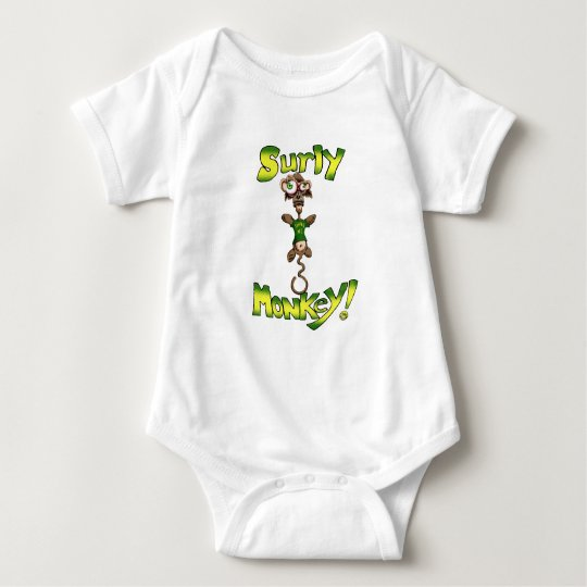 Surly Monkey! Baby Bodysuit