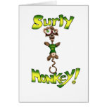Surly Monkey! Greeting Cards