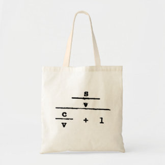 Surplus Value Tote Budget Tote Bag