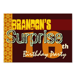 Surprise 16th Birthday Gold and Chocolate Stars Card