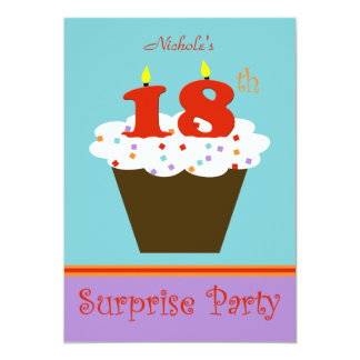 Surprise 18th Birthday Party Invitation