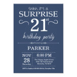 Surprise 21st Birthday Invitation Blue