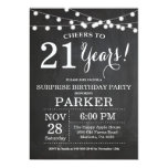 Surprise 21st Birthday Invitation Chalkboard