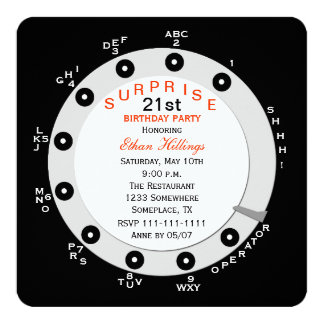Surprise 21st Birthday Party Invitation Rotary