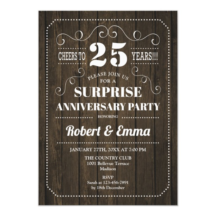 Surprise 25th Anniversary Party