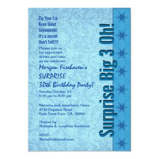 SURPRISE 30th Birthday Blue Stars W162 Card