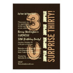 SURPRISE 30th Birthday Brown Tan Ivory V5A Cards