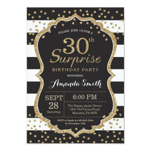 30th birthday invitations zazzle