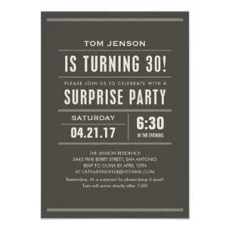 Surprise 30th Birthday Invitations Announcements Zazzle