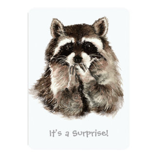 Surprise 30th Birthday Party Fun Shhhh Raccoon Card