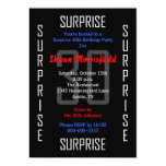 "Surprise 30th Birthday Party Invitation - 30 5"" X 7"" Invitation Card"