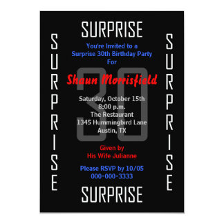 Surprise 30th Birthday Party Invitation 30