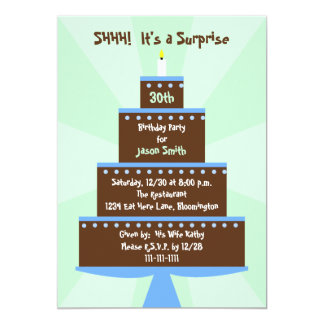 Surprise 30th Birthday Party Invitation Cake