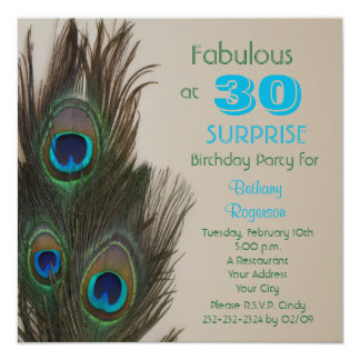 Surprise 30th Birthday Party Invitation Fabulous