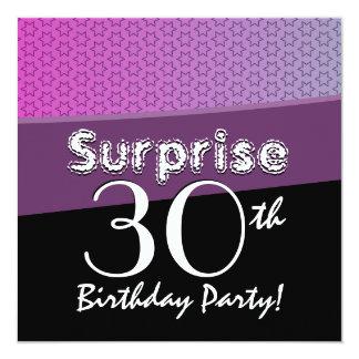 SURPRISE 30th Birthday Party Invitation Square