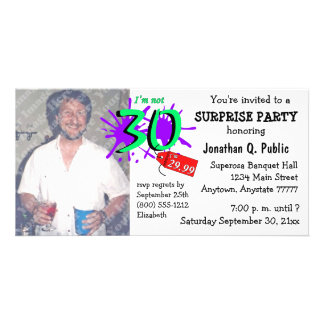 Surprise 30th Birthday Party Photo Invitation