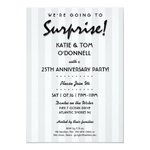 surprise 30th or any anniversary party invitation