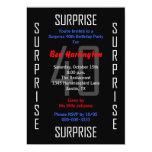 "Surprise 40th Birthday Party Invitation - 40 5"" X 7"" Invitation Card"
