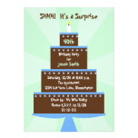 Surprise 40th Birthday Party Invitation -- Cake Announcements